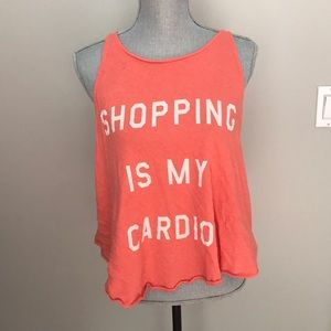 Wildfox Shopping Is My Cardio Top
